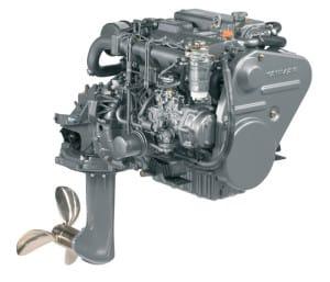 Motor 4JH5CE con transmisión Saildrive especial para veleros.