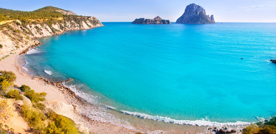 Una de las mejores playas de Ibiza, Cala D'hort