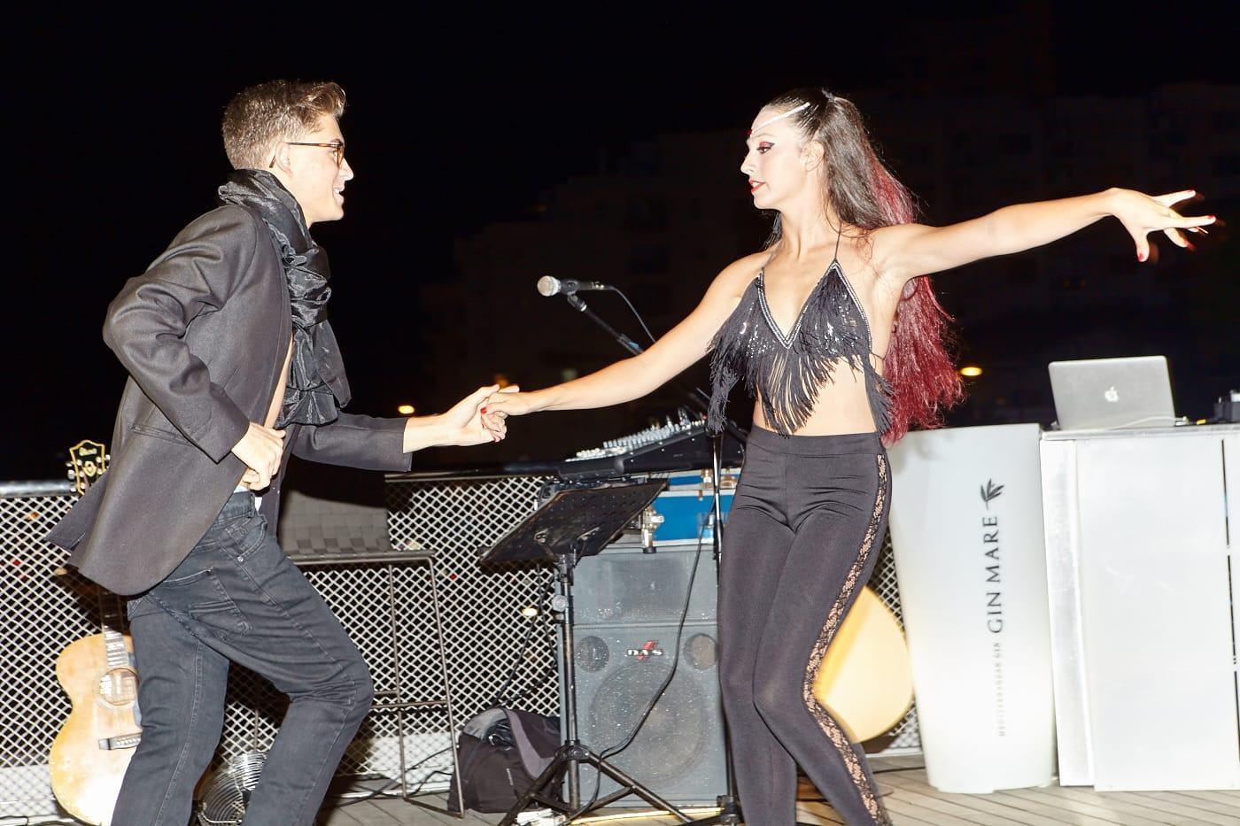 Ania y Dani en un momento de su coreografia