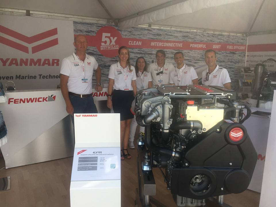 Presentación Oficial del YANMAR 4LV de 195 hp en Cannes